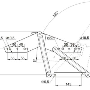 Чертеж механизма для дивана книжка или аккордеон