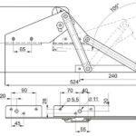 Чертеж механизма для дивана книжка либо аккордеона