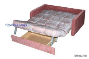 Ножка для дивана аккордеон с роликом передняя
