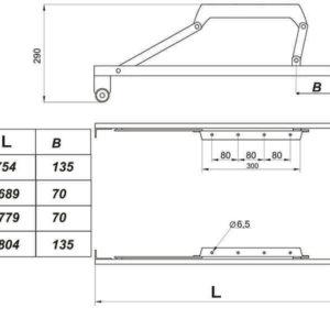 чертеж механизм трансформации дельфин № 549 с роликами и упорами