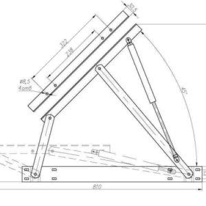 чертеж подъемный механизм для кровати купить №600 с газлифтам