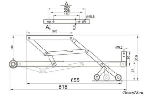 механизм трансформации дельфин 576 с роликами