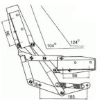чертеж механизма для дивана книжки HODRY мтст 99