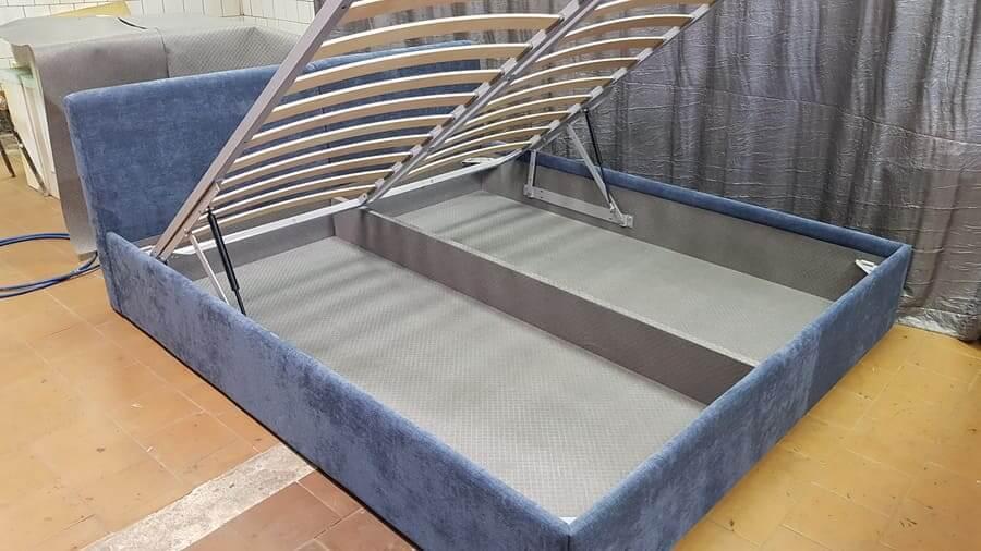Кровать синяя