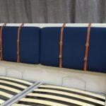 Кровать АДИДЖЕ двухспальная стильная с кожаными ремнями 2