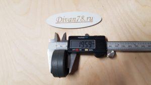 Колесо ролик углубленное прорезиненное 42х20х8 мм 4