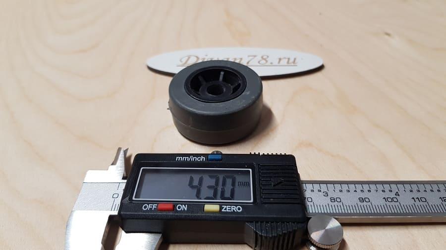 Колесо ролик углубленное прорезиненное 42х20х8 мм 5