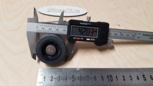 Ролик колеса 42 мм на г-образной пластине под саморезы