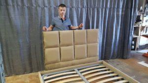 Кровать КВАДРО двуспальная дизайнерская 2