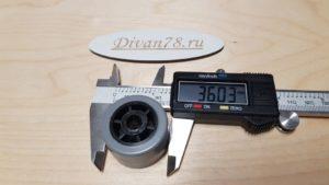 Ролик 36-23-8 мм углубленный прорезиненный 3