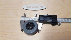 Ролик 50-21-8 мм углубленный прорезиненный 2