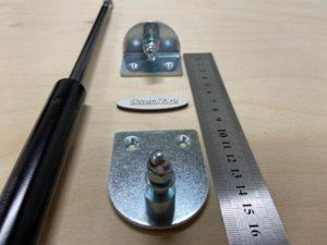 Кронштейны крепления газлифтов 8 мм 3