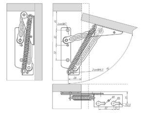 №605 подъемный механизм для пуфика 3